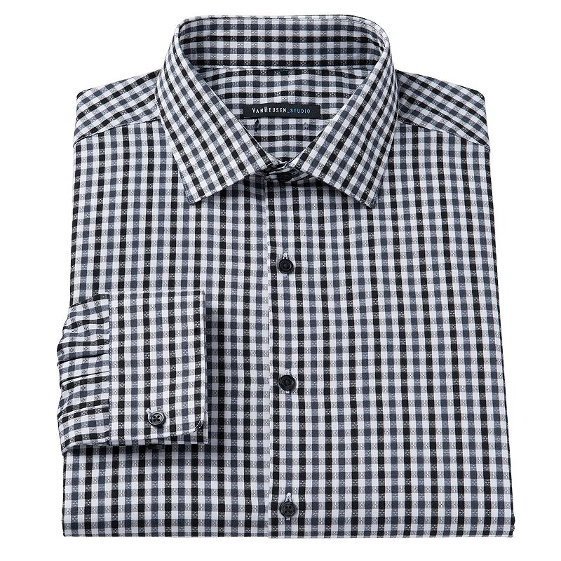 Mens dobby shirt kohl 39 s for Van heusen studio shirts big and tall
