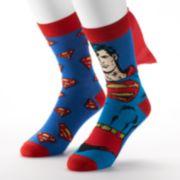 DC Comics 2-pack Superman Socks with Cape - Men