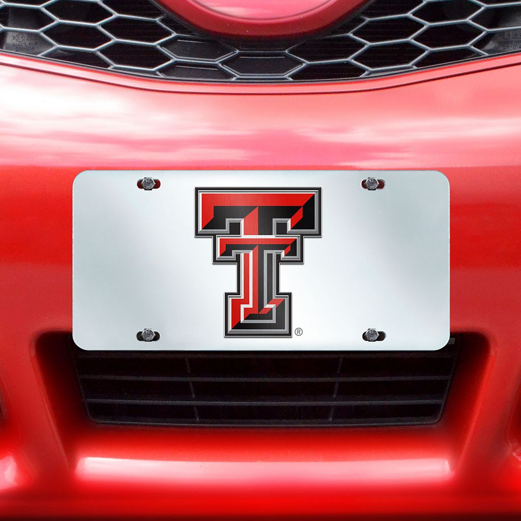 Texas Tech Red Raiders Mirror-Style License Plate