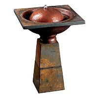 Cauldron Bird Bath Fountain