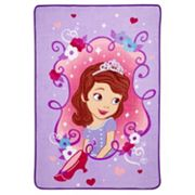 Disney's Sofia the First Sweet as a Princess Coral Fleece Blanket