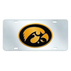 Iowa Hawkeyes Mirror-Style License Plate