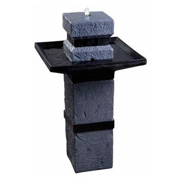Monolith Outdoor Solar Fountain