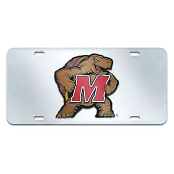 Maryland Terrapins Mirror-Style License Plate