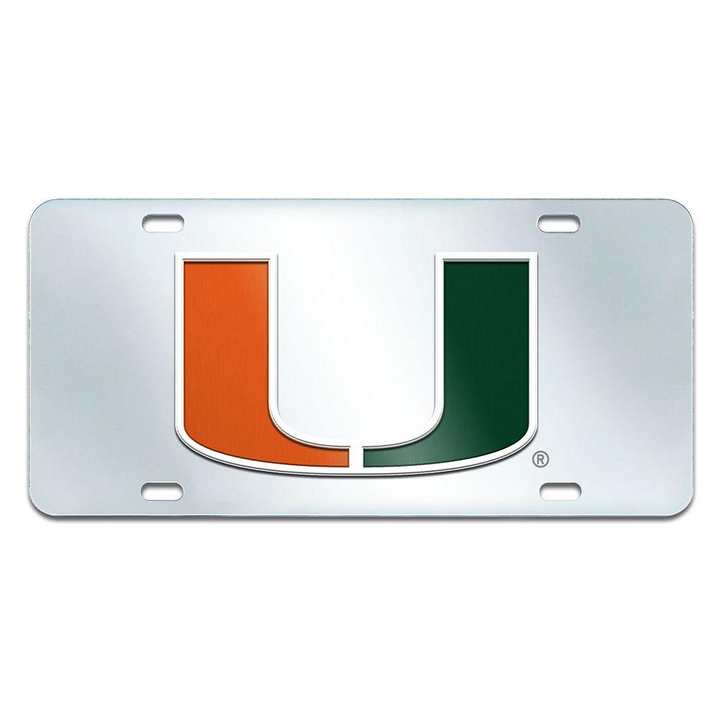 Miami Hurricanes Mirror-Style License Plate
