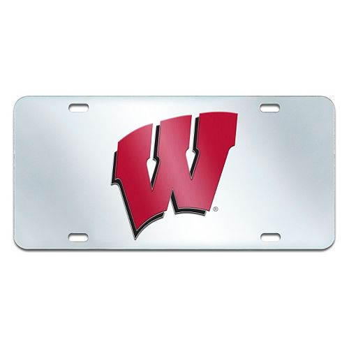 Wisconsin Badgers Mirror-Style License Plate
