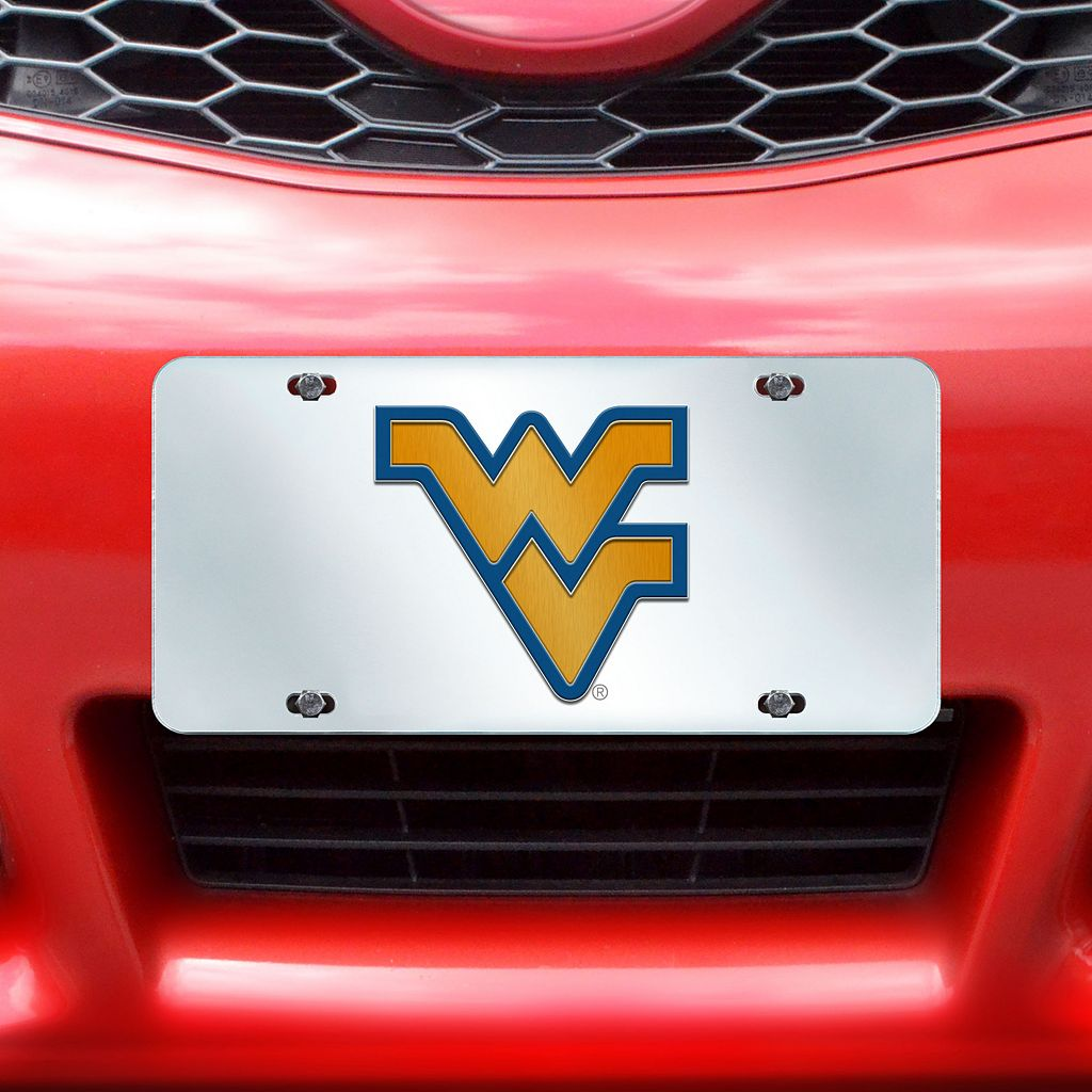 West Virginia Mountaineers Mirror-Style License Plate