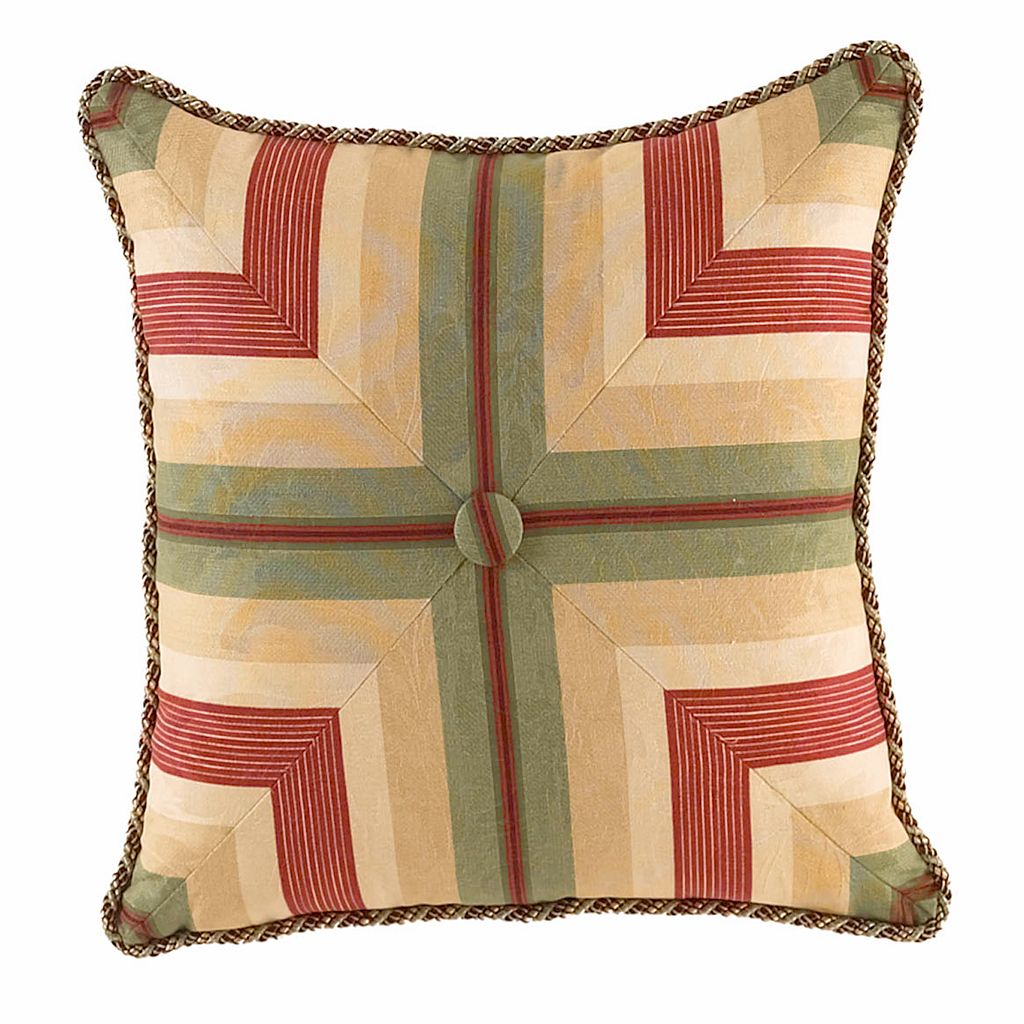 Waverly Laurel Springs Tufted Square Throw Pillow