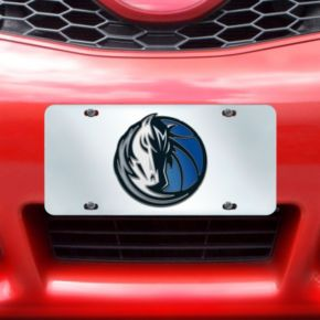 Dallas Mavericks Mirror-Style License Plate