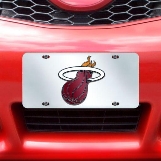 Miami Heat Mirror-Style License Plate