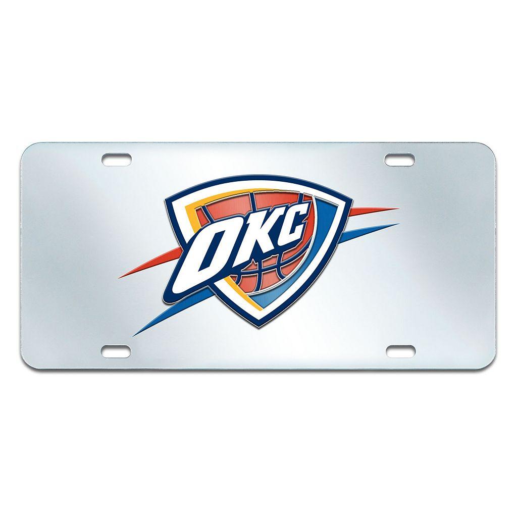 Oklahoma City Thunder Mirror-Style License Plate
