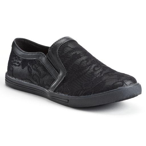 NYLA Edith Women's Lace Slip-On Sneakers