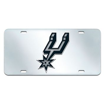 San Antonio Spurs Mirror-Style License Plate