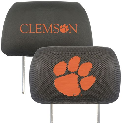 Clemson Tigers 2-pc. Head Rest Covers