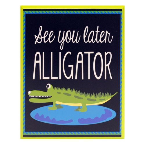 New View ''See You Later Alligator'' Wall Plaque