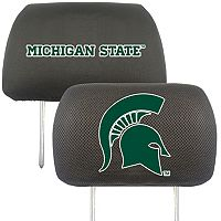 Michigan State Spartans 2 pc Head Rest Covers