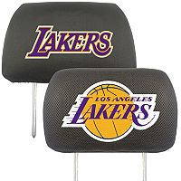 Los Angeles Lakers 2 pc Head Rest Covers