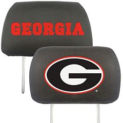 Georgia Bulldogs 2 pc Head Rest Covers
