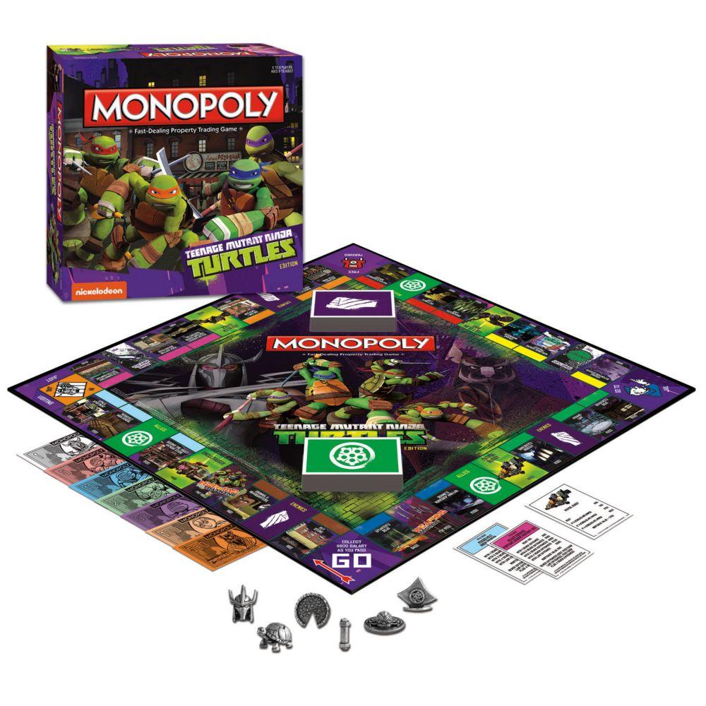 mutant ninja turtles monopoly game by usaopoly