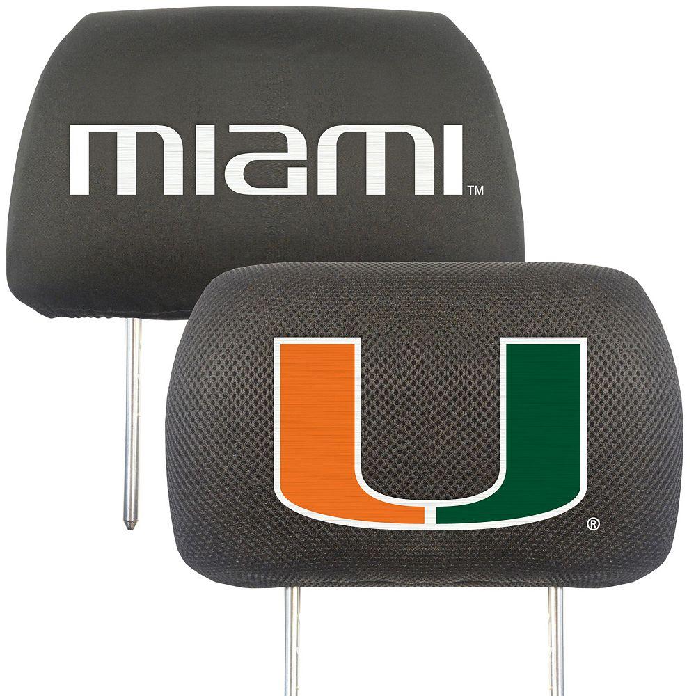 Miami Hurricanes 2-pc. Head Rest Covers