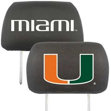 Miami Hurricanes 2-pc. Head Rest Covers