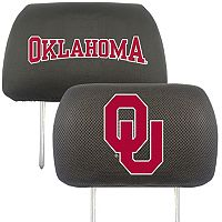 Oklahoma Sooners 2 pc Head Rest Covers