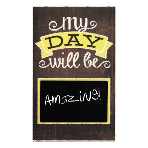"""New View """"My Day Will Be"""" Chalkboard Wall Decor"""