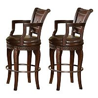 Antoinette 2 pc Swivel Bar Chair Set