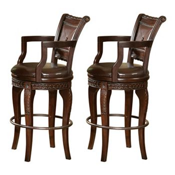 Antoinette 2 Piece Swivel Bar Chair Set