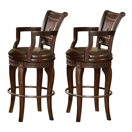 Antoinette 2-piece Swivel Bar Chair Set