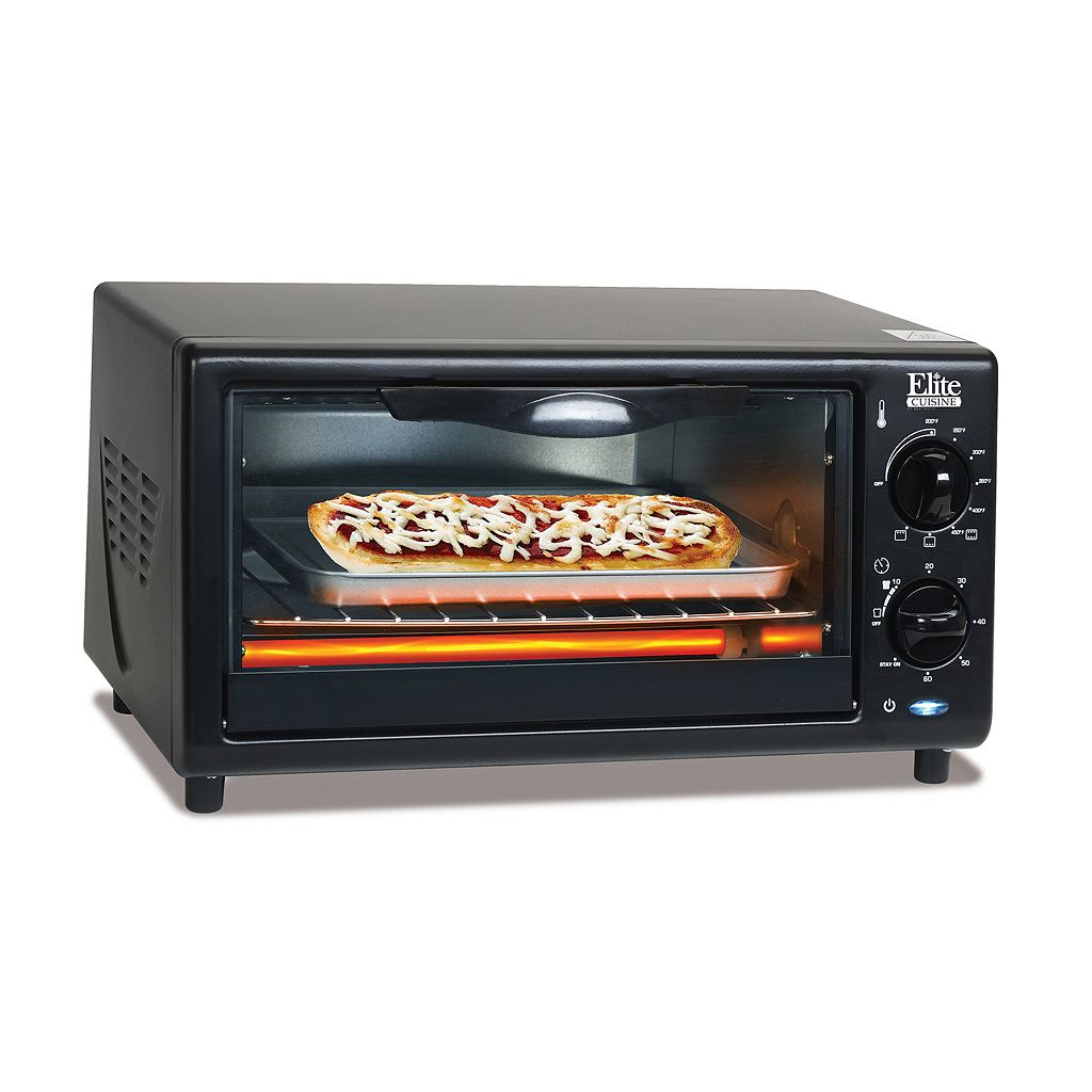 Elite Cuisine 4-Slice Toaster With Oven Broiler
