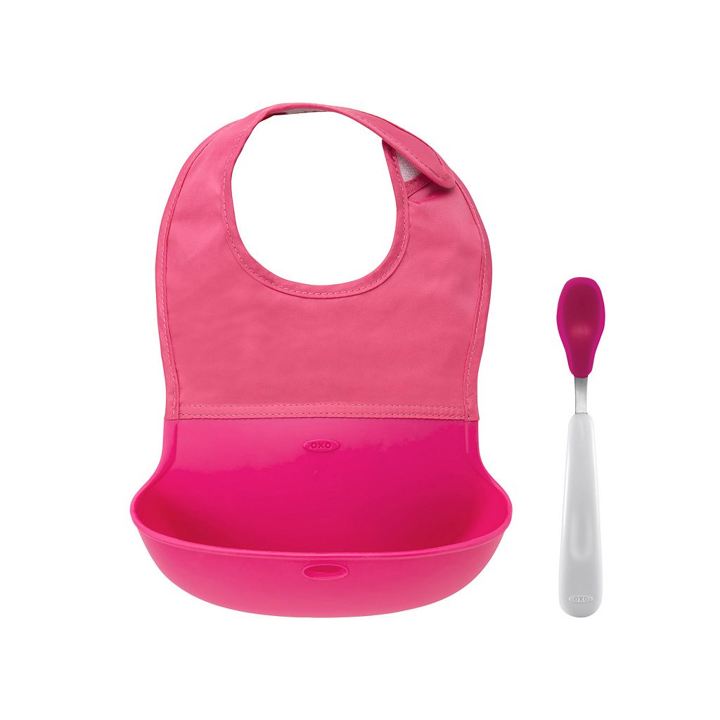 OXO Tot On-the-Go Bib and Spoon Set