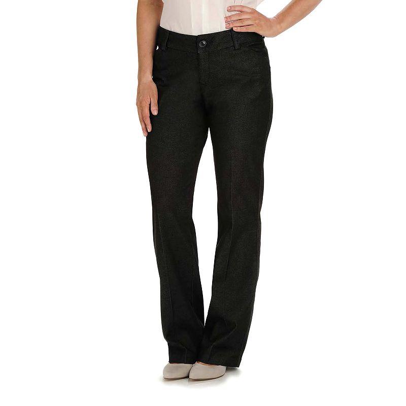 Women's Lee Modern Series Curvy Fit Maxwell Dress Pants, Size: 4 - regular, Dark Blue
