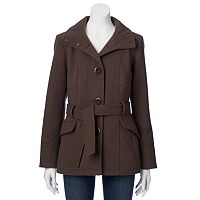 Women's d.e.t.a.i.l.s Faux-Wool Trench Jacket