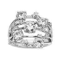 Forever Brilliant 3 1/8 Carat T.W. Lab-Created Moissanite 14k White Gold Galaxy Ring
