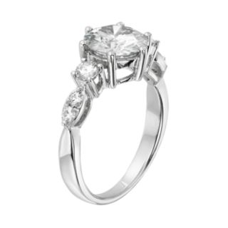 Forever Brilliant Lab-Created Moissanite Engagement Ring in 14k White Gold (2 1/5 Carat T.W.)