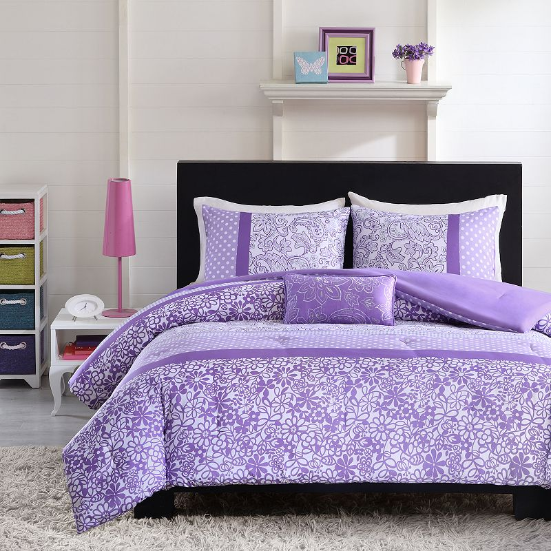 Purple Embroidery Bedding Kohl S