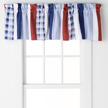 Nautical Stripes Reversible Window Valance - 84'' x 16''