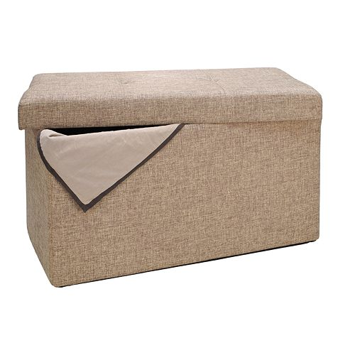 Simplify Folding Storage Ottoman - Folding Storage Ottoman