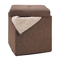 Simplify Square Folding Storage Ottoman
