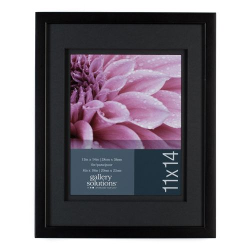 """Gallery Solutions 11"""" x 14"""" Matted Frame"""