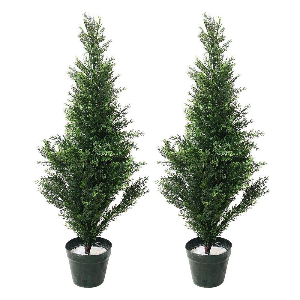 Navarro 2-pc. Potted Cedar Tree Set - Indoor & Outdoor