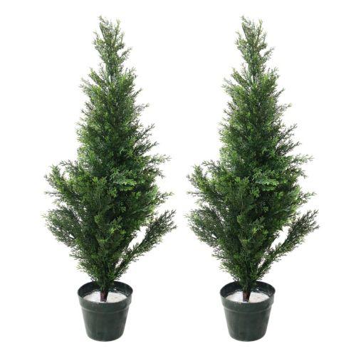Navarro 2-pc. Potted Cedar Tree Set - Indoor and Outdoor