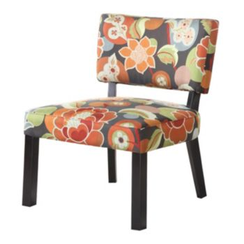 Bright Floral Accent Chair