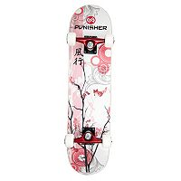 Punisher Skateboards Cherry Blossom 31 in ABEC-7 Complete Skateboard