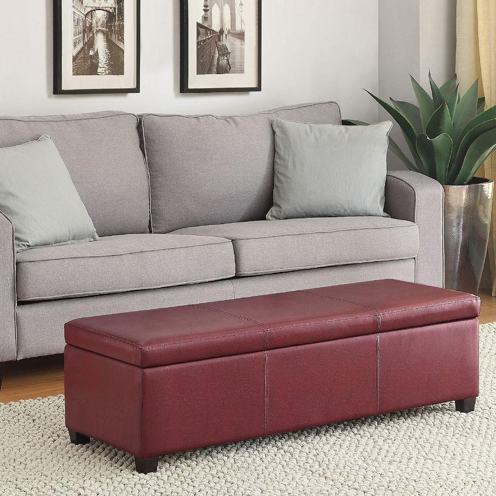 Simpli Home Avalon Storage Ottoman