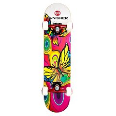 Punisher Skateboards Butterfly Jive 31-in. ABEC-7 Complete Skateboard