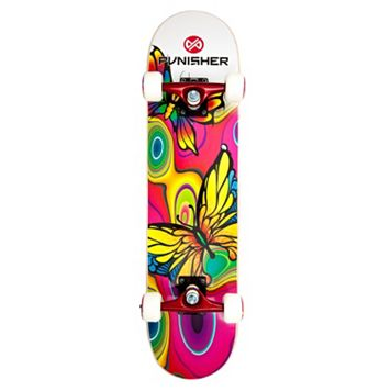 Punisher Skateboards Butterfly Jive 31-in. ABEC-7 Complete Skateboard