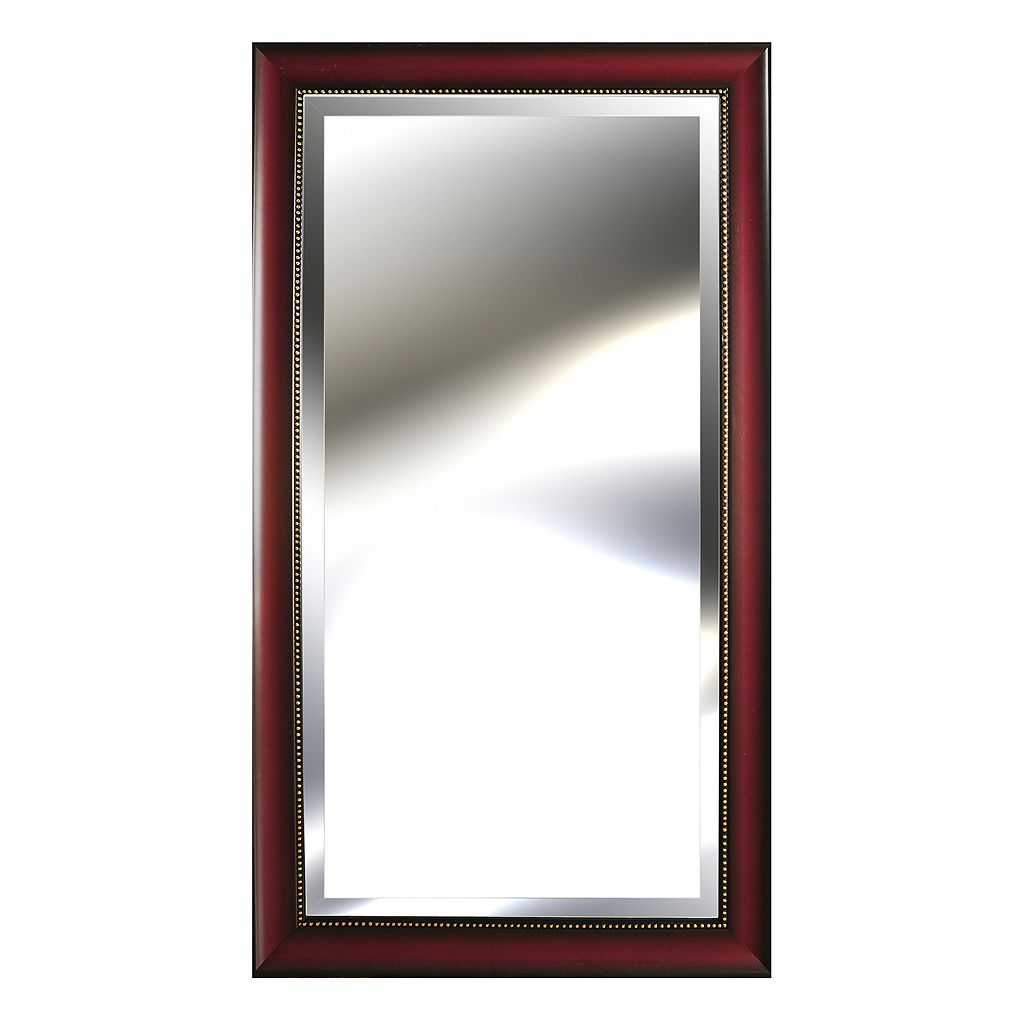 Gallery Perfect Rosewood Beveled Wall Mirror