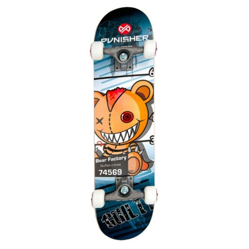 Punisher Skateboards Guilty Bear 31-in. ABEC-7 Complete Skateboard